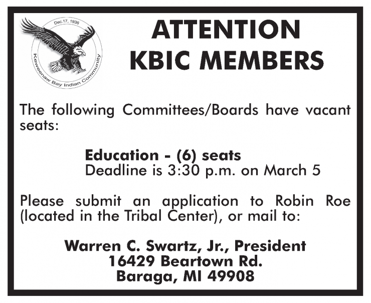 08-2021 KBIC Committee Board Vacant Seats March 5.png